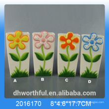 Creative ceramic air humidifier with flower design