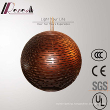 Chinese Style Coffee Fiberglass Pendant Lamp for Hotel Project
