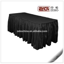 100% poliéster satinado de tela de banquete o de la boda utilizado por mayor faldas de la tabla de lino