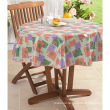 LFGB Fancy Hotel Hochzeit Dekorative Runde PVC gedruckt Tischdecke mit Unterstützung