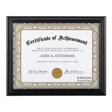 High quality 8.5x11 Document Frame Certificate Frames Made of Solid Wood Display Certificates Standard Paper Frame
