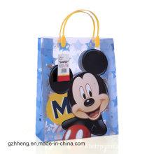 Bolso plástico promocional personalizado del regalo de la impresión de la historieta (bolsos del PVC)