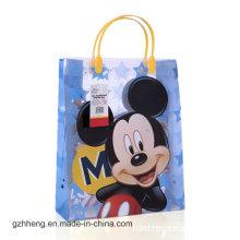Подгонянное печатание шаржа выдвиженческий пластичный мешок подарка, мешок(ПВХ мешок)