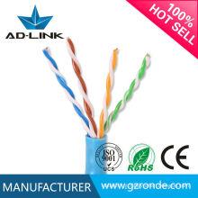 Hot china products Condutor de cobre sólido 1000Base-Gigabit Ethernet utp cat5e 4 pares