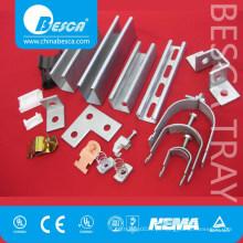 Manufatura de fábrica entalhada lisa do tipo do CU do canal Unistrut do aço (UL, CE, fabricante alistado GV)