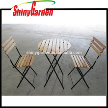 3 Piece Portable Wood Dining Folding Table And Chair Set,Party Tables And Chairs