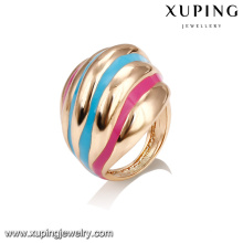 14385 Wholesale delicate ladies jewelry irregular shaped colorful paint finger ring