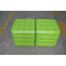 Green leather pouf ottoman XYN460