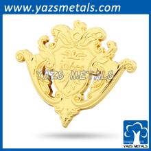 Gold überzogener Epoxyaufkleber kundenspezifischer Metallabzeichenhalter