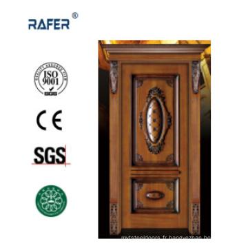 Porte intérieure en bois / porte en bois massif (RA-N001)