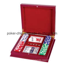 100PCS Poker Chip Set in Luxury Wooden Box (SY-S42)