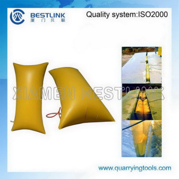 Rock and Stone Block Inflatable Push Bags for Mining