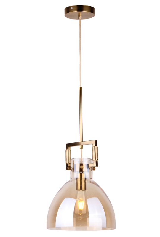 Pendant Lamp Glass Amber