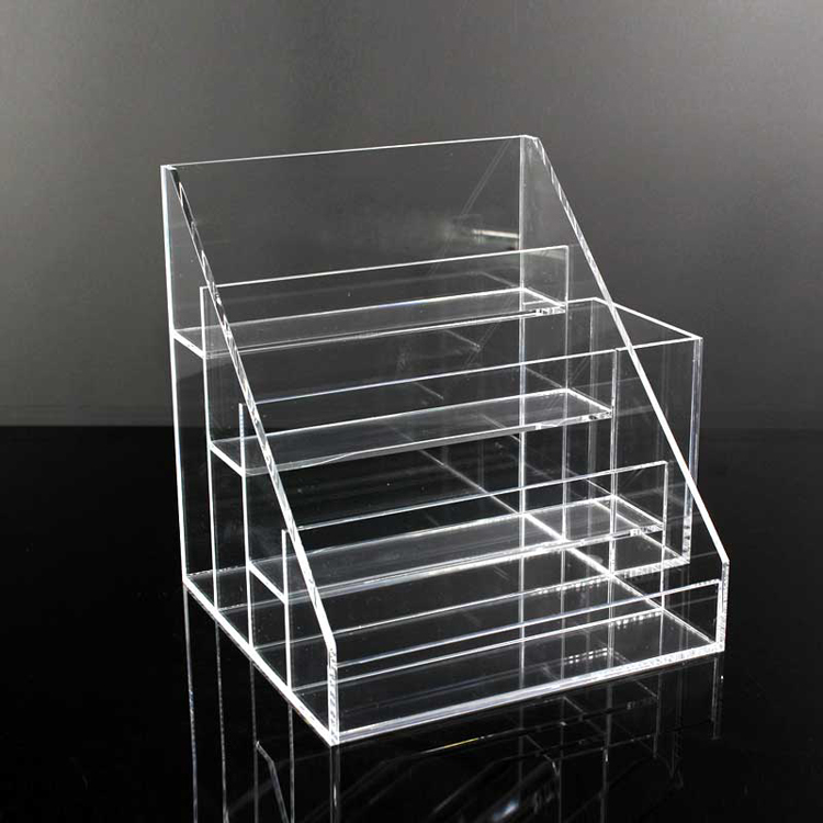 A 4or0001 4 Tier Clear Acrylic Makeup Stand