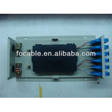 Wall mounted metal box ODF SC24 with adapters and pigtails