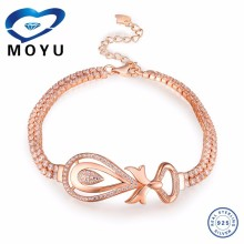 2015 fashion sterling silver Bangles Bracelet with 18k gold Plated