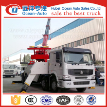 SINOTRUK HOWO 8x4 30Ton flatbed tow truck
