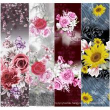 beautiful flowers pattern 100% cotton printed fabric