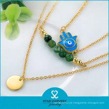Mode benutzerdefinierte Strass Schmuck günstigen Preis Perlen Halskette (n-0294)