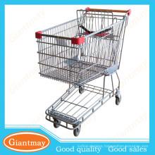 Australian-style stainless steel supermarket walking shopping cart