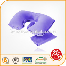 inflável flocado travesseiro de pescoço de praia/saltar/água/viagens com plugue de máscara/orelha de olho