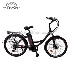 Vélo électrique CE EN15194 250W vert électrique vélo de ville fabriqué en Chine