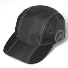 черный неструктурированного полиэстера запущена шапки дешевые спортивные шапки