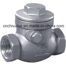 H14 Válvula de retención oscilante de rosca interna de acero inoxidable