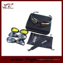 Daisy C5 Polarized lunettes désert 4 lentille extérieure UV400 Protection chasse militaire lunettes de soleil lunettes de cas jeu de guerre