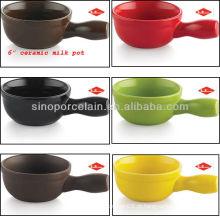 Vaso de leite de cerâmica 6inch para BS12096