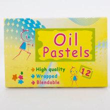 12 colors oil pastel for kids
