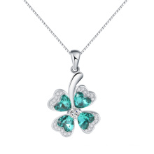 Красивый кристалл Австрии элемент повезло четыре листа клевера кулон