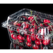 transparent clamshell plastic packaging box for strawberry