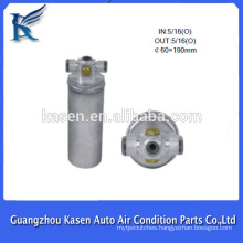 aluminum r134a filter drier /auro ac parts receiver driers/filters for car