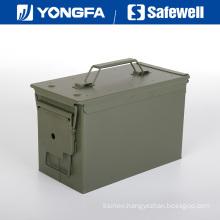 . 50 Cal Metal Bullet Box Ammo Box for Gun Safe