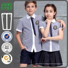 2016 Colorblock Cheap Beautiful Asian School Shirt