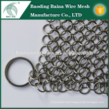 """Cast Iron Cleaner BNS7""""X7"""" Stainless Steel Chainmail"""
