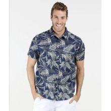 Man clothing floral print type custom dress shirt