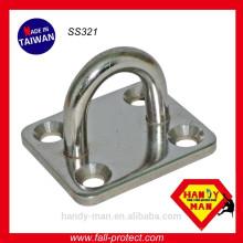 SS321 Arbeitsschutz-Edelstahl-Pad-Eye-Platten