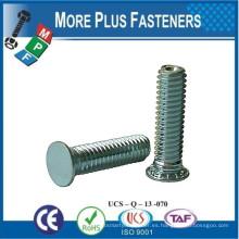 Hecho en Taiwán Escalera Cabeza Autobloqueo Stud Material de latón Acero inoxidable o acero al carbono Zinc plateado