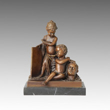 Nackte Figur Statue Kinder / Kinder Bronze Skulptur TPE-117