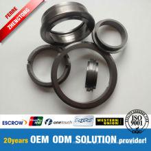 Anéis de vedação de metal duro resistentes à corrosão e a produtos químicos