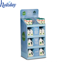Plate Body Wash Shampoo Floor Display Stand,Convenient Stores Retail Cardboard Floor Shampoo Display
