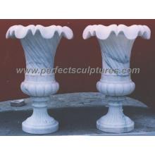 Jardinera de mármol de la flor para la piedra del jardín (QFP086)