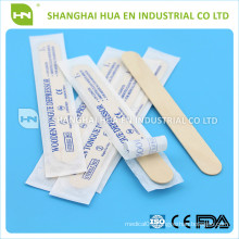 Disposable wooden tougue depressor