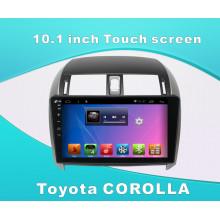 Reproductor de DVD del coche del sistema del androide para Toyota Corolla pantalla táctil de 10.1 pulgadas con GPS / Bluetooth / TV