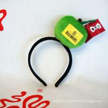 Plush Apple Mascot Party Hairpin