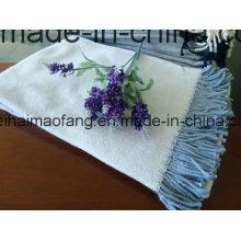 Mantas tejidas de algodón en espiga tejidas