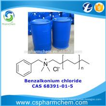 Chlorure de benzalkonium, CAS 68391-01-5, chlorure d'alkyl diméthylbenzylammonium pour le traitement de l'eau