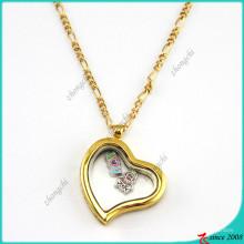 Medalhões de vidro coração preguiçoso ouro para acessórios de moda (fl16040834)